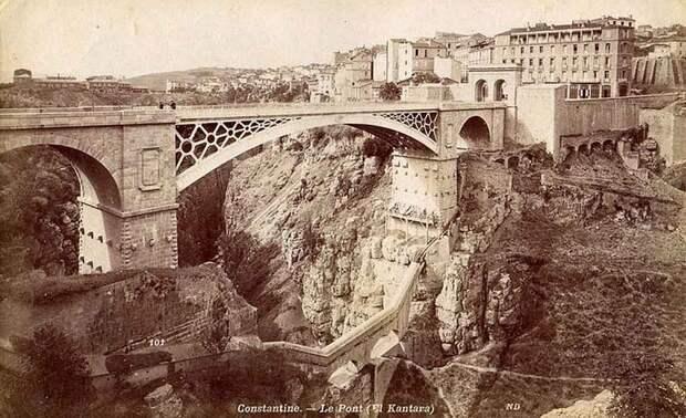 Мост Эль-Кантара, старая открытка