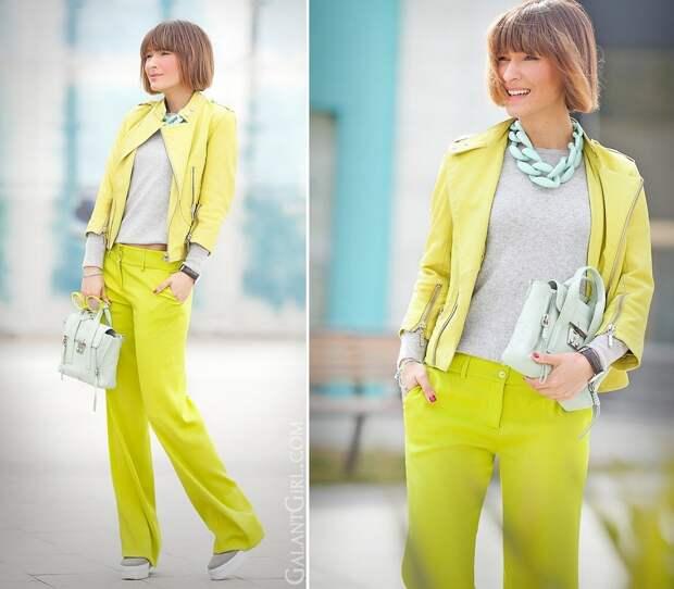 Жёлто-серый 2021. Образы для женщин 50+