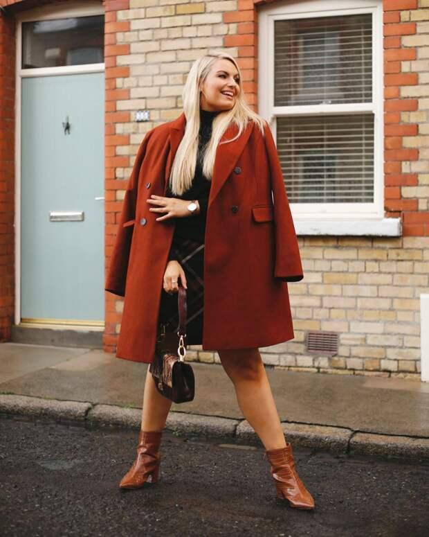 Модные зимние образы для полных женщин фото 4