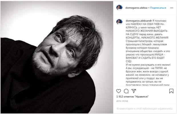 Инстаграм Домогарова