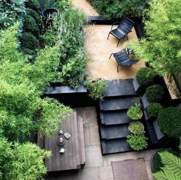 10 дизайнерских идей по обустройству сада в городе