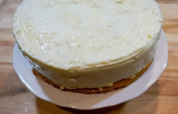 Простейший рецепт торта птичье молоко со сливочным кремом