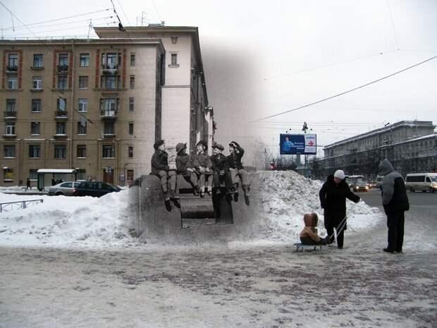 Ленинград 1945-2010 Угол Московского проспекта и Благодатной улицы. Дети пережившие блокаду блокада, ленинград, победа