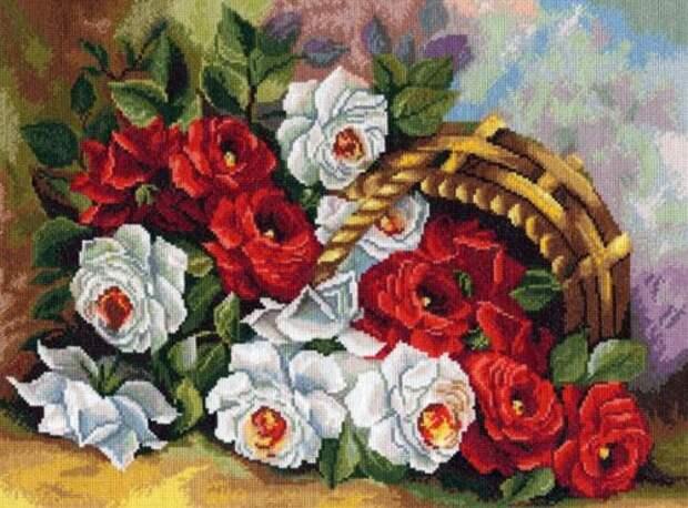 Вышивка Садовые розы