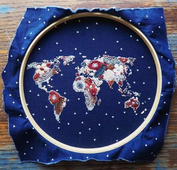 Карта мира. В горошек:)
