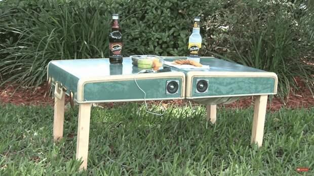 Как превратить чемодан в стол для пикника. Мастер-класс и фото идеи
