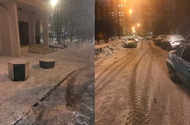 Двор на улице Усиевича очистили от снега — управа