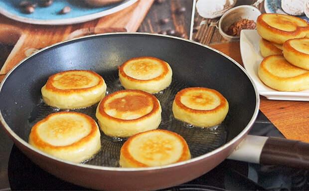 Оладьи-пончики на сковороде: прогреваем кефир и тесто поднимается как воздух