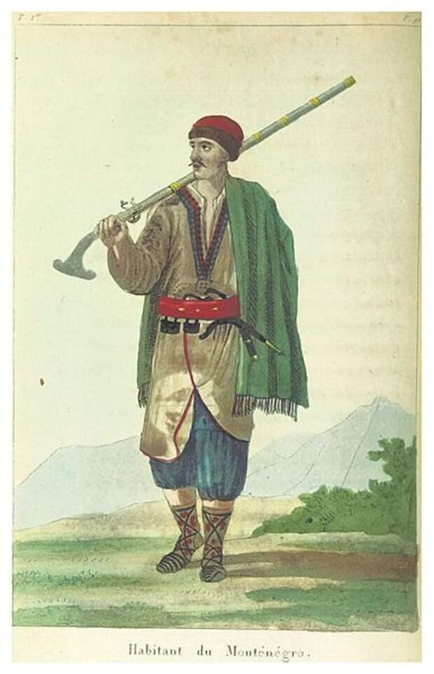 Черногорец, начало XIX века.