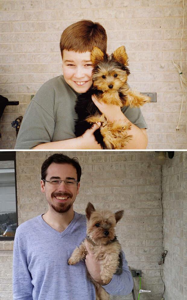 2001 - 2014: лучший друг и товарищ до и после, друзья, собаки, фото