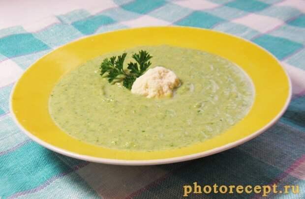 Фото рецепта - Суп-пюре с брокколи, цветной капустой и шпинатом - шаг 4