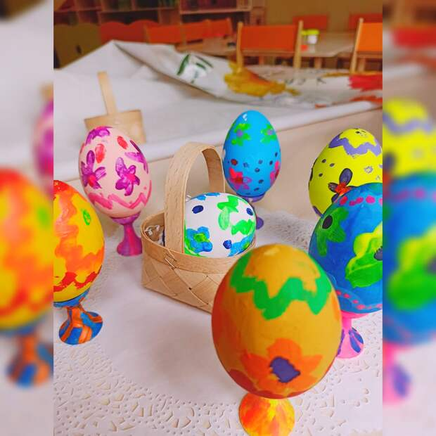 Роспись деревянных яиц акриловыми красками – увлекательное занятие
