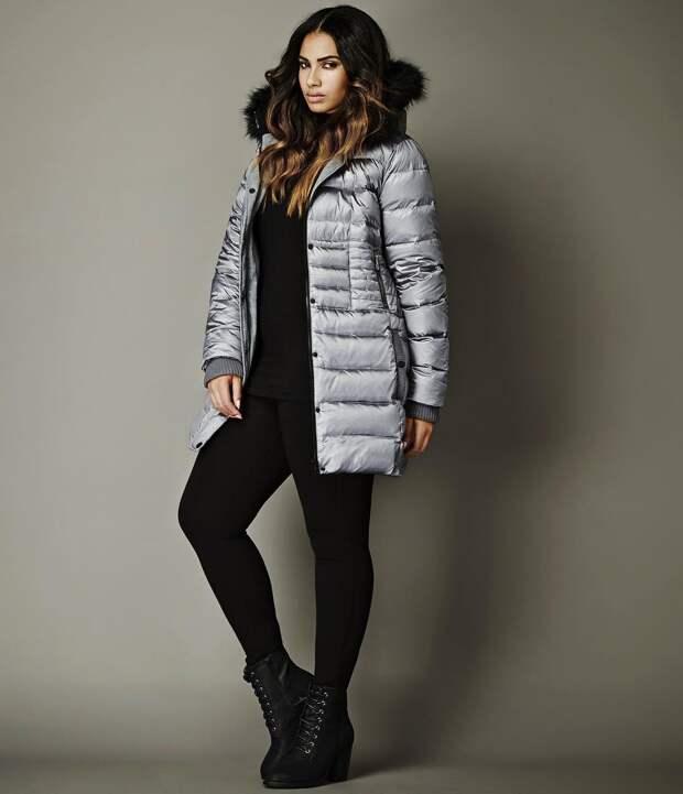 Модные зимние образы для полных женщин фото 3