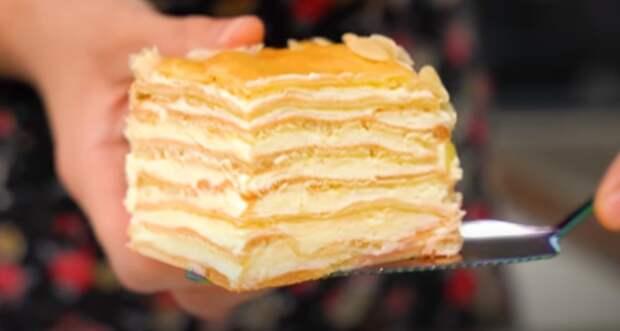Вкуснейший домашний торт Пломбир. Для всех любителей торта Наполеон и Карпатка