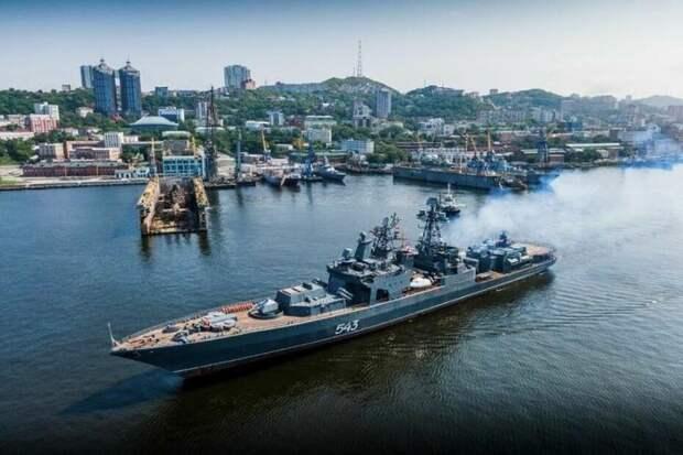 Носитель «Калибров» фрегат «Маршал Шапошников» вошёл всостав сил постоянной готовности ТОФ