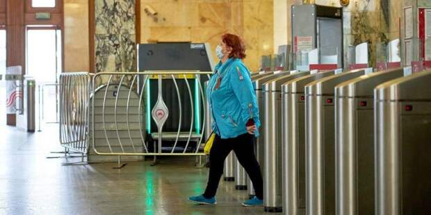 Дептранс: 99% пассажиров метро надели маски утром 15 мая. Фото: mos.ru