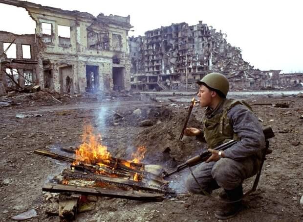 Солдаты первой чеченской.