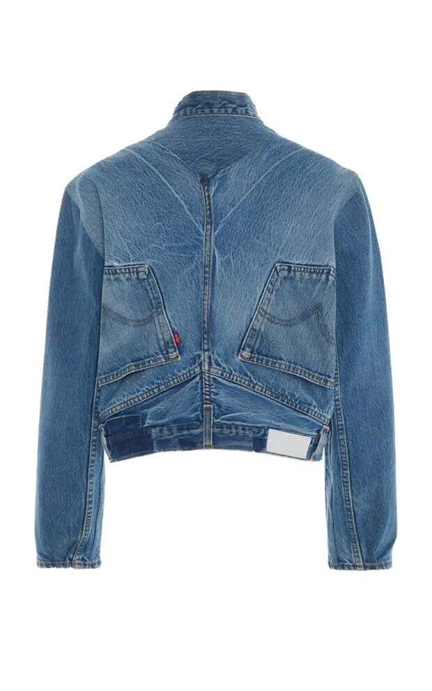 """Куртка из старых джинсов. Джинсы """"вверх ногами"""". Необычные джинсовые переделки."""