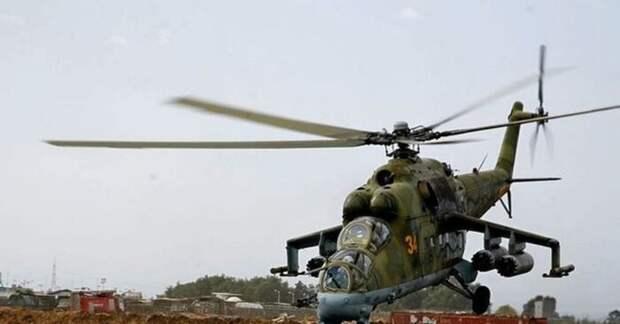 Фантастический полет российских вертолетов Ми-24П на сверхмалой высоте поразил сеть