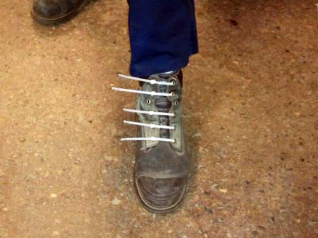 Новые надежные шнурки.