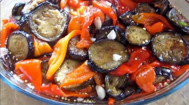 Зимний деликатес из баночки – маринованные баклажаны с болгарским перцем