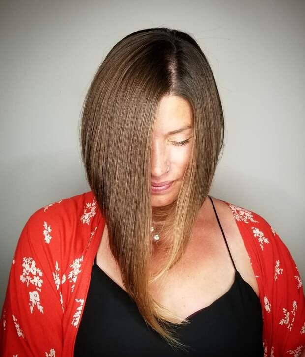 Прямое каре для женщин 40-50 лет: 16 примеров с омолаживающим эффектом