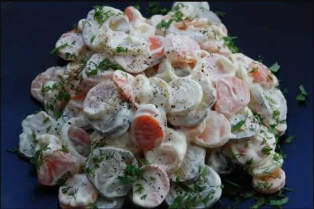 Салат Копейка. Несмотря на недорогие ингредиенты, салатик понравится всем без исключения 2