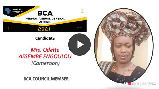 BCA Council Elections 2021 - Odette ASSEMBE ENGOULOU (CMR) - Council Member