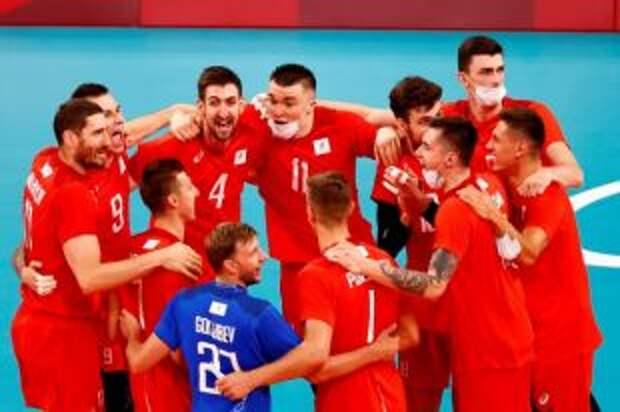 Российские волейболисты обыграли американцев в матче на Олимпиаде