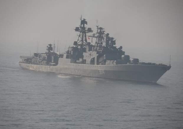 Российские корабли развернулись в рамках учений в Тихом океане