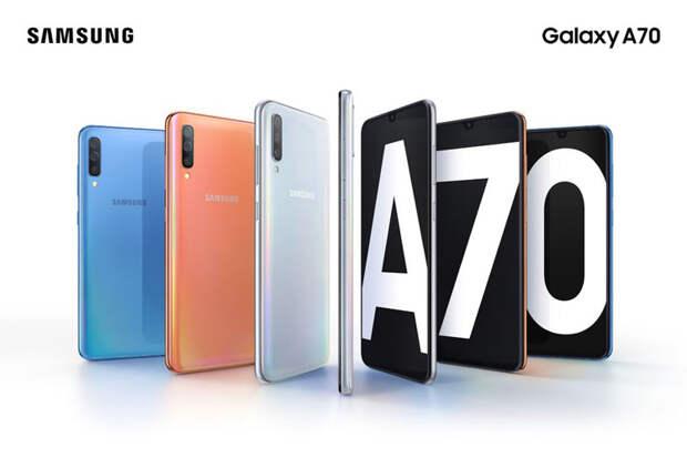 Samsung анонсировала смартфон Galaxy A70 с 6,7-дюймовым дисплеем