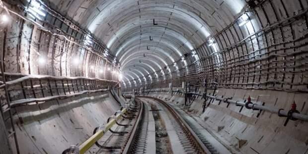 Собянин дал старт проходке двухпутного тоннеля на восточном участке БКЛ/Фото: Е. Самарин mos.ru