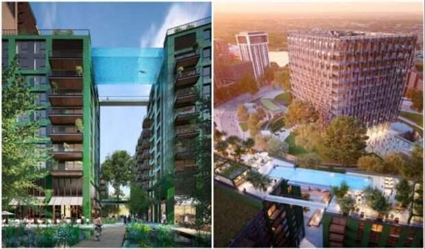 Заканчивается строительство первого в мире прозрачного бассейна, зависшего на 35-метровой высоте