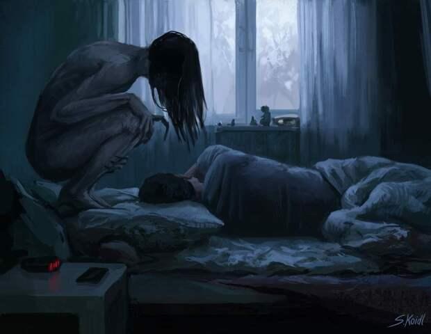 """Картина художника Стефана Коидла """"Ночной кошмар"""" (изображение с сервиса Яндекс.Картинки)"""