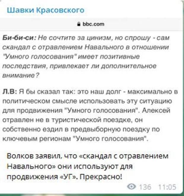 Волков и Соболь будут рады, если Навальный преставится – они уже делят роли