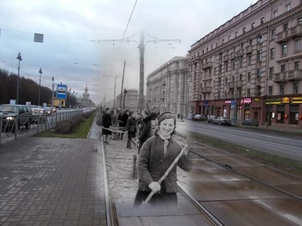 Ленинград 1944-2009 Московский проспект. Город освобожден от блокады блокада, ленинград, победа