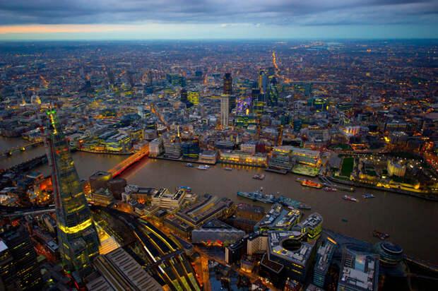 Энергопотребляющий Лондон с высоты птичьего полета