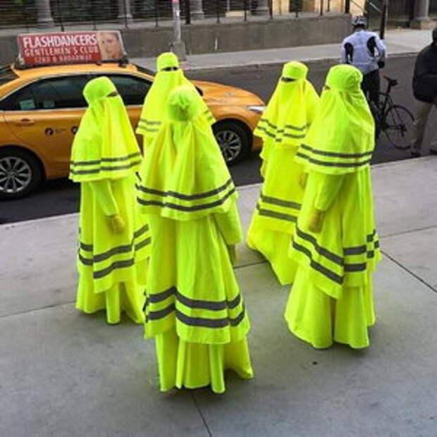 Хиджабы желтожилетные