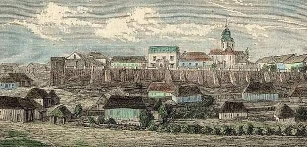 Общий вид Шаргорода на старинной польской открытке (фрагмент).