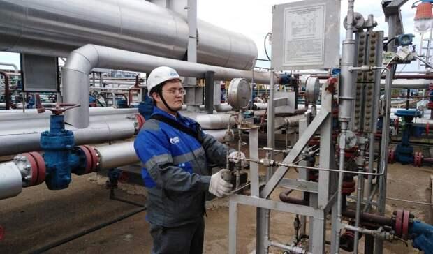 «Газпром» сначала года увеличил добычу газа на13,7%