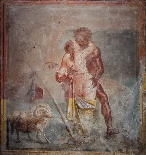 9 эротических фресок из Помпей