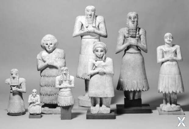 Шумерские статуэтки