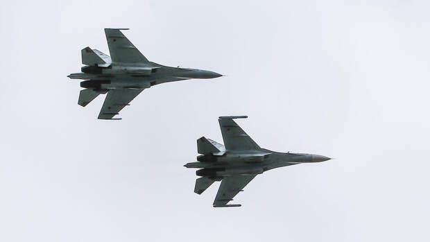 Российские истребители сопроводили французских летчиков над Черным морем