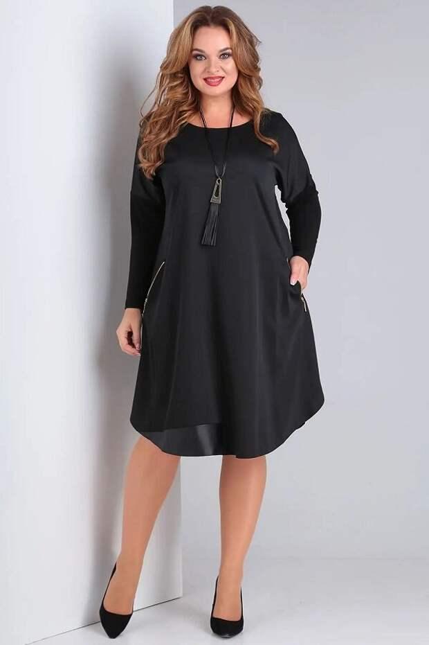 Платье на каждый день немаркого черного цвета