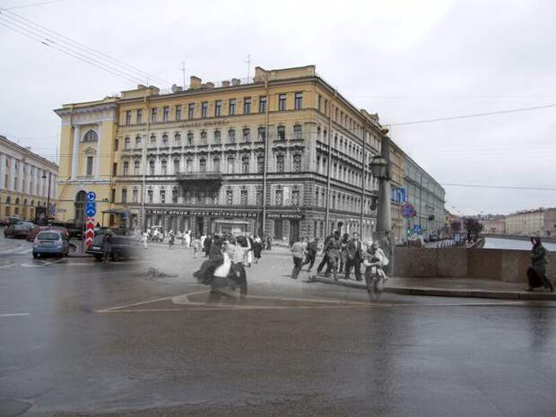 Ленинград 1941-2009 Площадь Ломоносова. Воздушная тревога блокада, ленинград, победа