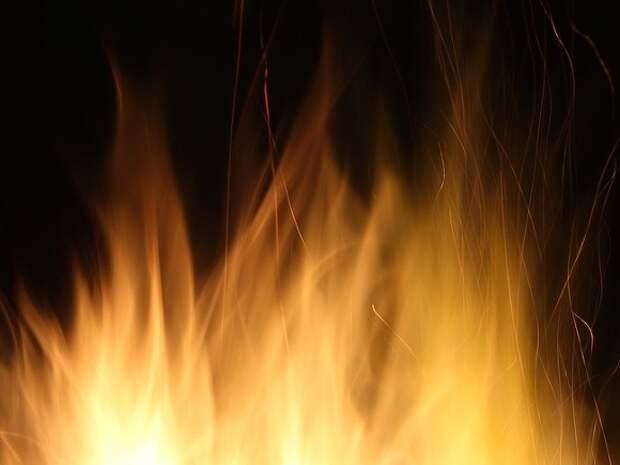 На границе Петербурга и Ленобласти загорелась свалка