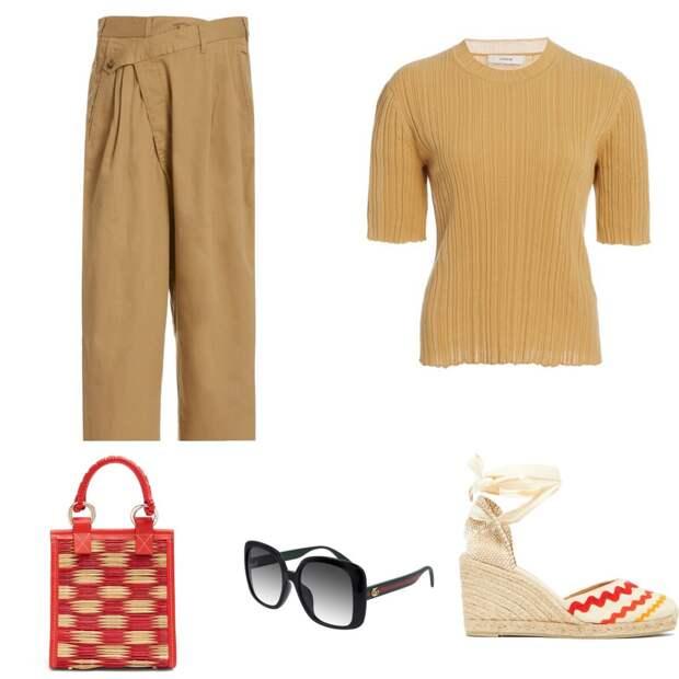 С чем носить модные » косые» брюки этим летом!