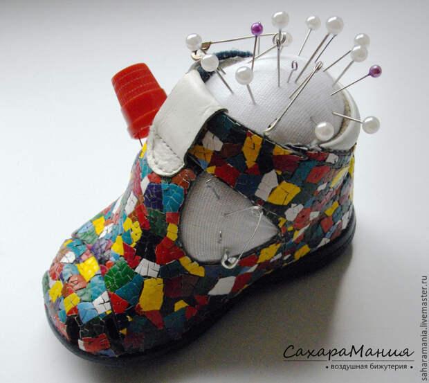 Делаем игольницу из детского ботиночка