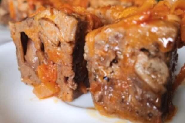 Фото к рецепту: Пп рецепт из куриной печени за 15 минут