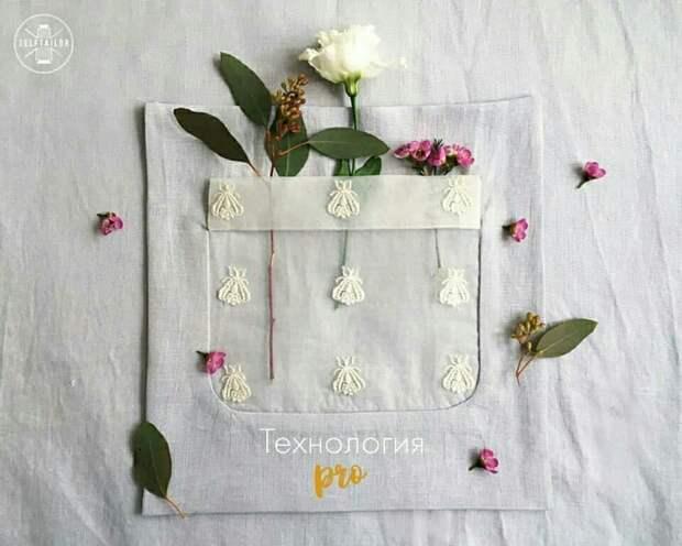 Прозрачный карман без швов (Diy)